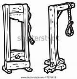 Noose Guillotine Coloring Hangman Template Cartoon sketch template