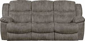 Catnapper valiant power reclining sofa with 3 recliners for Sectional sofa with drop down table