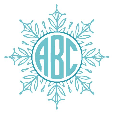 custom snowflake monogram customize