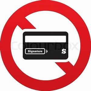 No Credit Card Sign Icon  Debit Card Symbol  Virtual Money