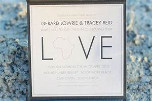 gerard and tracey39s black and white wedding in south With affordable wedding invitations south africa