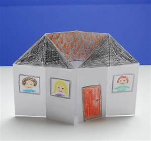 Origami Maison En Papier : maison 3d colorier origami t te modeler ~ Zukunftsfamilie.com Idées de Décoration