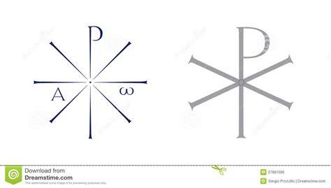 monogramma del simbolo  cristo illustrazione