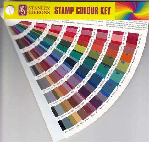 color key stanley gibbons st colour key