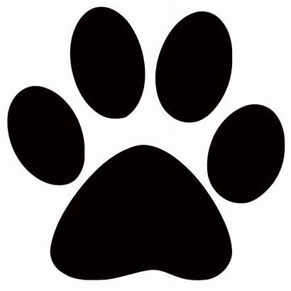 Paw Panther Clip Dog Cat Prints Clipart