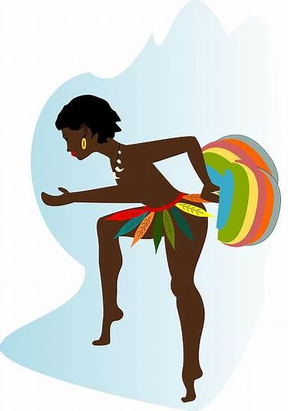 African Woman Dancing Pixabay Dance Vector