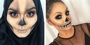 Maquillage Squelette Facile : meilleurs maquillages t te de mort pour halloween ~ Dode.kayakingforconservation.com Idées de Décoration