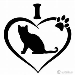 I Love My CAT Decal - Top Pet Gifts