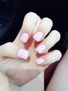 Short light pink acrylic nails   Hair, Nails, & Makeup ...