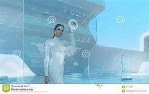 Future Technology Touchscreen Interface. Stock Image ...