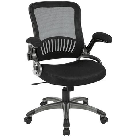 Office Chairs With Flip Up Arms by Office Mesh Task Chair With Flip Up Arms Em35207