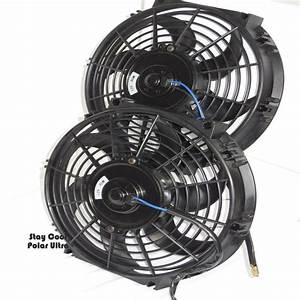 Electric Radiator Fans Dual 10  U0026quot   U0026 Relay Wiring Kit  Fits 20 U0026quot  Core And Larger