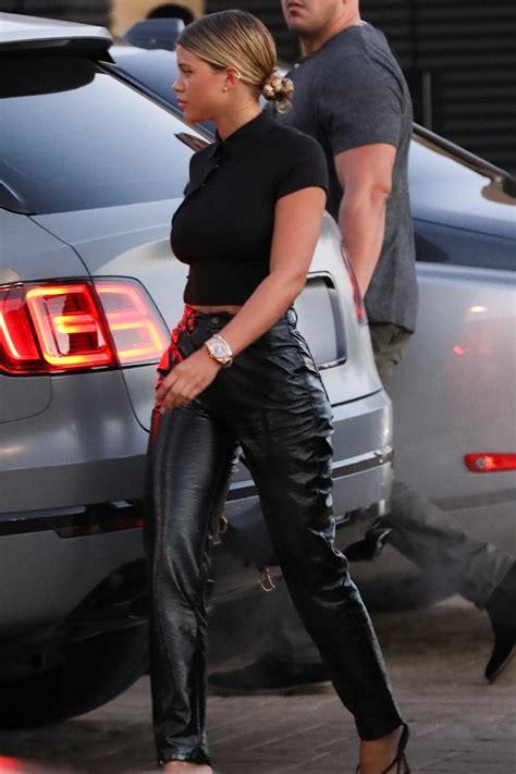 sofia richie   nobu leather celebrities