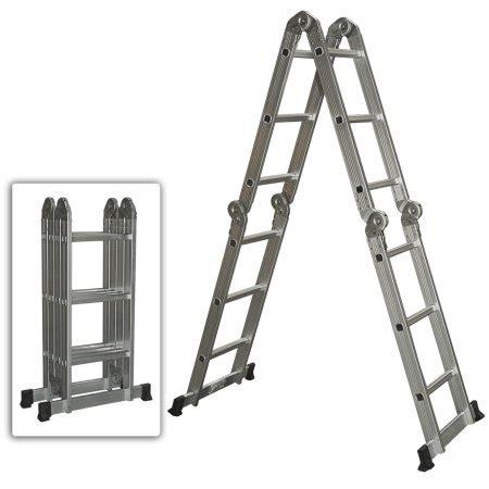 tangga scaffolding 2 multi purpose aluminum ladder folding step ladder