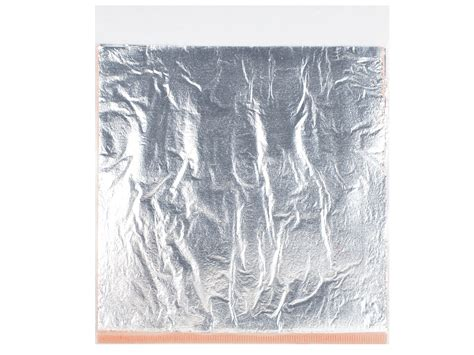 fimo silver leaf metal 10 sheets cooksongold
