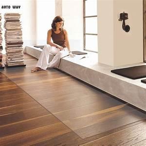 pvc transparent waterproof leather mats floor protection With parquet vitrifié mat
