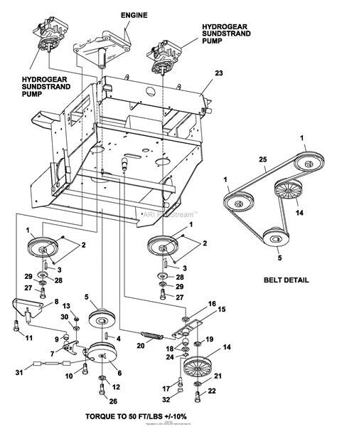 bunton bobcat ryan  zt  hp kaw  side discharge parts diagram   engine