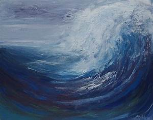 Abstract Ocean Wave Painting Acrylic Painting - Original ...