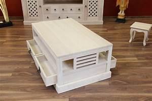 Wohnzimmertisch Holz Weiß : couchtisch holz massiv 116x67x46 schubladen wei beige gek lkt ~ Frokenaadalensverden.com Haus und Dekorationen