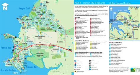 darwin tourist map