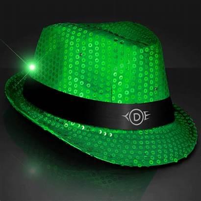 Flashing Led Fedora Sequin Hat Hats