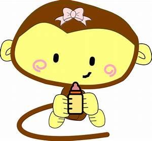 Baby Girl Monkey Clip Art at Clker.com - vector clip art ...