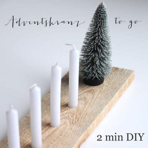 Weihnachtlicher Kerzenhalter Tannenbaeumchen adventskranz to go aus drei zutaten diy