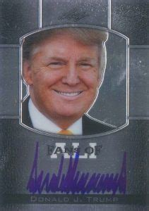 donald trump trading cards autographs top  cards