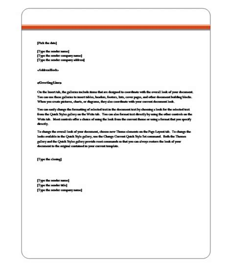 how to make a formal letter on microsoft word 2010 word