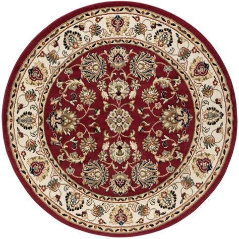 tayse rugs hampton traditional red  ft  area rug