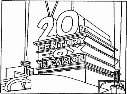 Coloring Pages 20th Fox Century Sketch Template