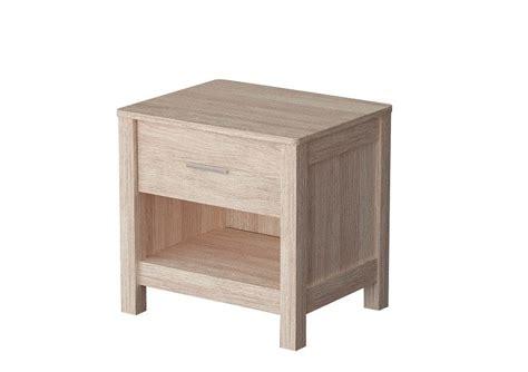 sonoma light white oak wooden bedside table one drawer