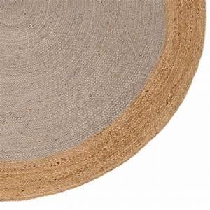 Tapis Rond Design : tapis naturel rond en jute gris clair tiss la main ~ Teatrodelosmanantiales.com Idées de Décoration