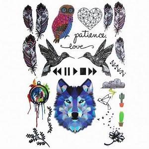 Tatouage Loup Graphique : tatouage ephemere loup et animaux ~ Mglfilm.com Idées de Décoration