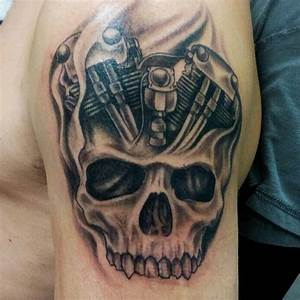 Motorcycle engine with skull | Tattoos | Pinterest ...