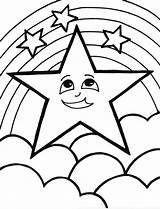 Coloring Star Pages Printable Colouring sketch template