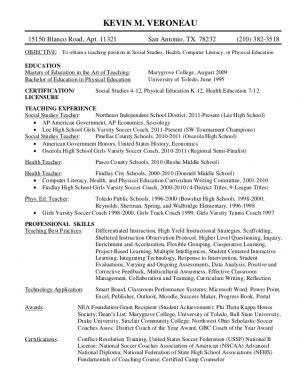 Physical Education Resume Exle by Resumes With Quotes Quotesgram