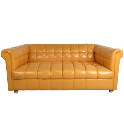 Mid Century Modern Tufted Chesterfield Sofa For Sale At