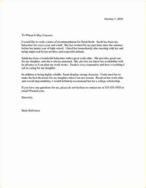 examples  good reference letters letters  sample