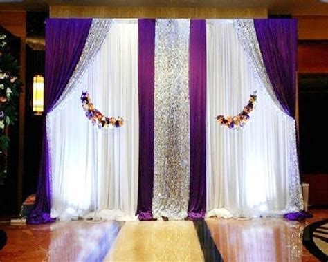 Drape Decoration - pipe and drape system or telescopic pole and backdrop or