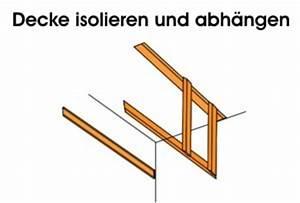 Decke Abhängen Anleitung : decke isolieren abh ngen innen anleitung ~ Frokenaadalensverden.com Haus und Dekorationen