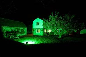 Led flood light w green