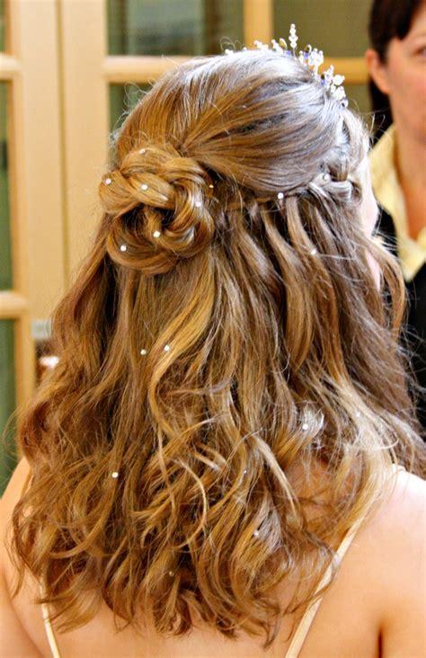 Wedding Hairstyles Half up Half Down Plaits images