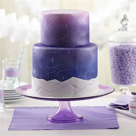 fondant cake snow wilton swirls food spray cakes wedding mist purple using wlproj colorful colors