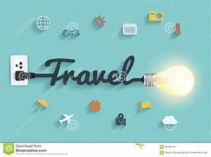 Vector Travel Ideas Concept Creative Light Bulb Design