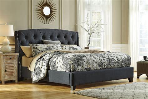 king upholstered platform bed b600 558 556 597 ashley