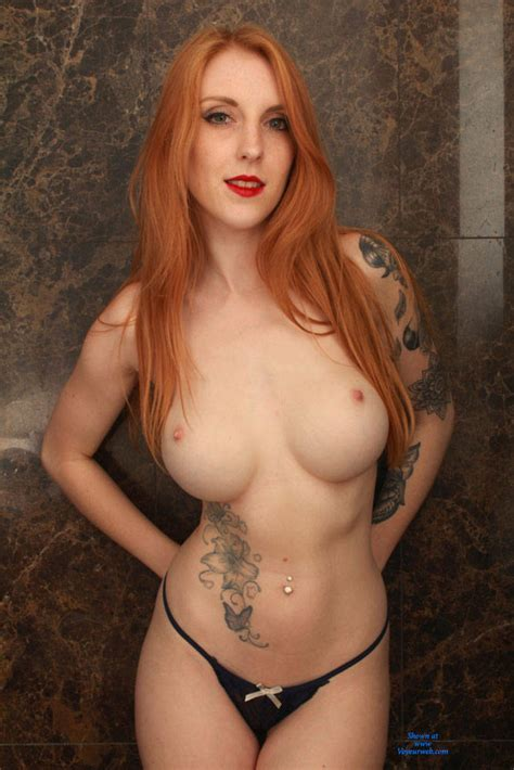 Redhead Alexa Showing Big Tits And Tattoos August 2016