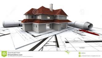 architectual plans houses on architect 39 s plan stock photo image 2008830