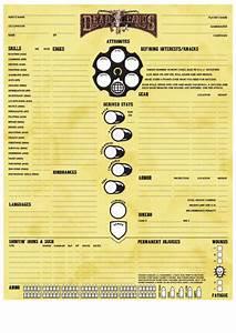 Deadlands Character Sheet Printable Pdf Download