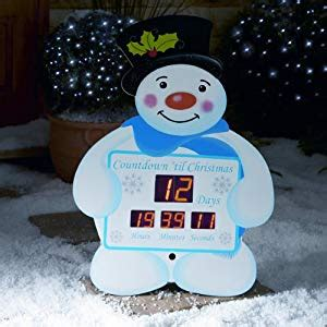 countdown to christmas snowman lighted digital clock yard decor snowman countdown clock from premier decorations co uk kitchen home